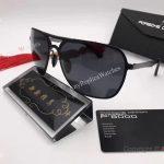 2017 New Porsche Design P8806 Sunglasses Brown Lens Gold&Black Frame unisex (3)