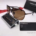2017 New Porsche Design P8806 Sunglasses Brown Lens Gold&Black Frame unisex (4)