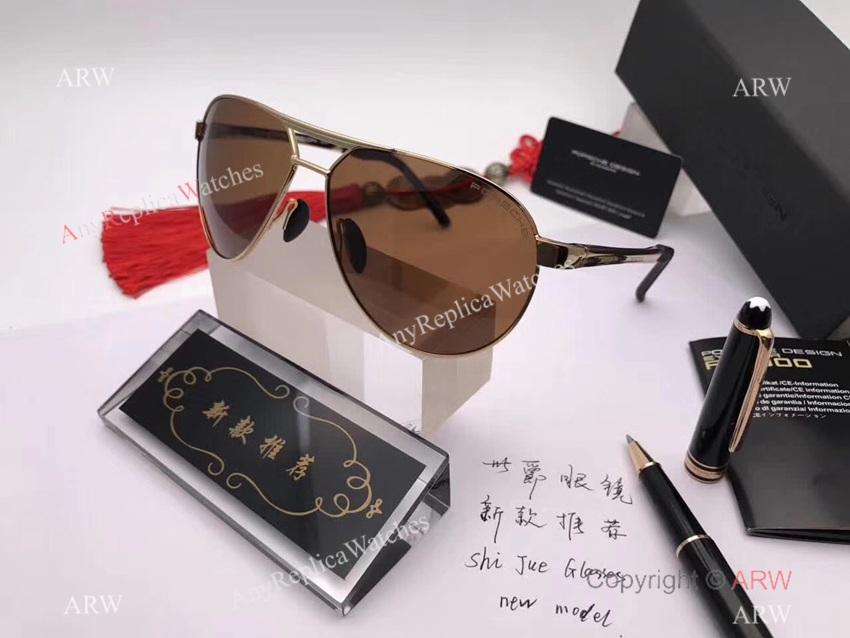 NEW MODEL Replica Porsche Sunglasses Gold Frame - Buy Wholesale (6)