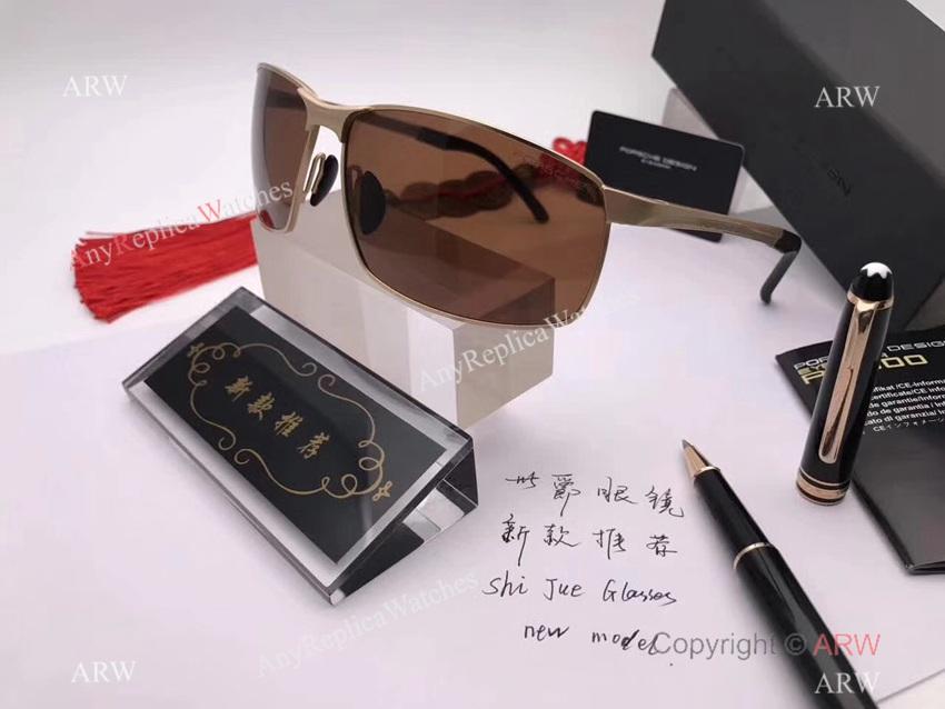 New Replica Porsche P 8541 Gold Frame Sunglasses - Polarized lenses (7)