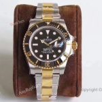 AR Factory Replica Rolex Submariner Black Face Two-Tone Swiss Watch 40 mm