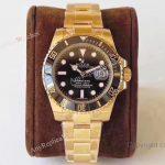 AR Factory Rolex Submariner Swiss ETA2824 Black Dial Gold Watch 40mm