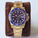 AR Factory Rolex Submariner Swiss ETA2824 Blue Dial Gold Watch 40mm