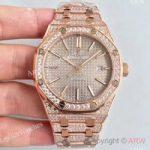 replica-audemars-piguet-royal-oak-15400-n-rose-gold-diamond-grey-dial-swiss-3120