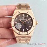 replica-audemars-piguet-royal-oak-15450-jf-rose-gold-brown-dial-swiss-3120