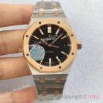 replica-audemars-piguet-royal-oak-15450-jf-stainless-steel-rose-gold-black-dial-swiss-3120