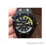 replica-audemars-piguet-royal-oak-offshore-diver-15706-forged-carbon-black-yellow-dial-swiss-2824