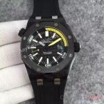 replica-audemars-piguet-royal-oak-offshore-diver-jf-15706-forged-carbon-black-yellow-dial-swiss-3120