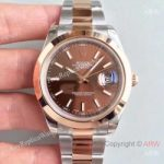 replica-rolex-datejust-ii-116333-41mm-ew-stainless-steel-rose-gold-chocolate-dial-swiss-3136