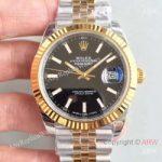 replica-rolex-datejust-ii-116333-41mm-ew-stainless-steel-yellow-gold-black-dial-swiss-3235
