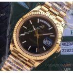 replica-rolex-day-date-40-228235-2017-ew-yellow-gold-black-diagonal-dial-swiss-3255