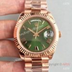replica-rolex-day-date-40-228235-40mm-ar-stainless-steel-904l-with-18k-rose-gold-wrapped-green-dial-swiss-3255