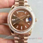 replica-rolex-day-date-40-228235-40mm-kw-rose-gold-diamonds-chocolate-dial-swiss-3255