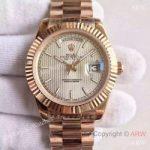 replica-rolex-day-date-40-228235-40mm-kw-rose-gold-silver-stripe-dial-swiss-3255