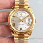 replica-rolex-day-date-40-228238-40mm-ar-stainless-steel-904l-with-18k-yellow-gold-wrapped-rhodium-dial-swiss-3255