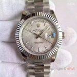 replica-rolex-day-date-40-228239-40mm-kw-stainless-steel-silver-stripe-dial-swiss-3255