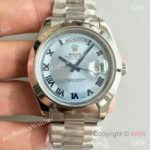 replica-rolex-day-date-ii-218206-41mm-v6-stainless-steel-blue-dial-swiss-2836-2