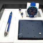 2019 Newest Montblanc Blue Pen and Wallet Watches (1)