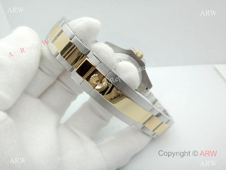 New Replica Rolex SEA-DWELLER 43mm Two Tone Black Watch (9)