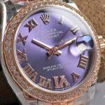 New Lady Rolex Datejust Aubergine Dial Swiss Replica Watches 31mm (3)